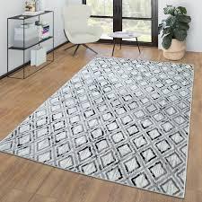 wohnzimmer kurzflor teppich vintage skandi design
