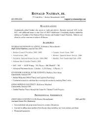 Resume Examples For Highschool Students With No Work Experience Inspirational Sample College Student