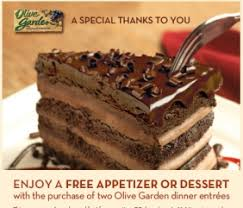 Olive Garden Coupon Free App or Dessert with Purchase My Frugal