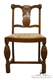 Details About 1920's Antique Solid Oak Splat Back Vanity / Accent Chair W.  Carved Flowers Set Of Six 19th Century Carved Oak High Back Tapestry Ding Jonathan Charles Room Dark Armchair With Antique Chestnut Leather Upholstery Qj493381actdo Walter E Smithe Fniture 4 Kitchen Chairs Quality Wood Chair Folding Buy Chairhigh Chairfolding A Pair Of Wliiam Iii Oak Highback Chairs Late 17th 6 Victorian Gothic Elm And Windsor 583900 Hawkins Antiques Reproductions Barry Ltd We Are One Swivel Partsvintage Wooden Oak Wood Table With White High Back Leather And History Britannica