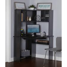 Mainstays Corner Computer Desk Instructions by Morgan Computer Desk With Hutch Black Oak Box 2 Walmart Com