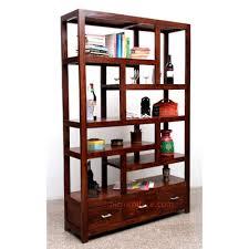 Modern Open Display Shelf Rack With 3 Drawers