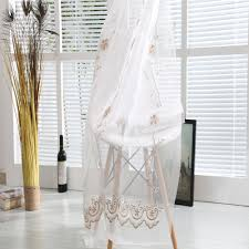 White Sheer Voile Curtains embroidered sheer voile curtain fabric embroidered sheer voile