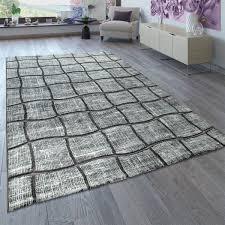 karo muster kurzflor teppich für wohnzimmer in bunt designer