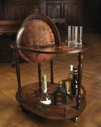 Globe Liquor Cabinet Antique by Trolley Globe With Drink Cabinet And Tray