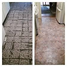 1980s tile converted to modern armstrong alterna grouted tile