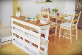 ilot cuisine palette design interieur ilot central en palette meuble bar 2 en 1 cuisine