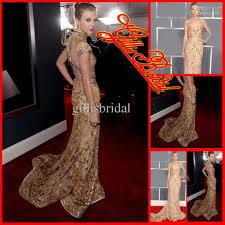 2012 new mermaid beaded lace short sleeves celebrity dress