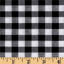Smooth Curtain Fabric Crossword by Lawn Gingham Check Black White From Fabricdotcom This Very