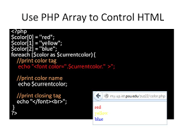Use PHP Array To Control HTML