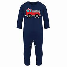 Fire Truck Baby Clothes Elegant Margery Ellen Fire Truck Print Pjs ...