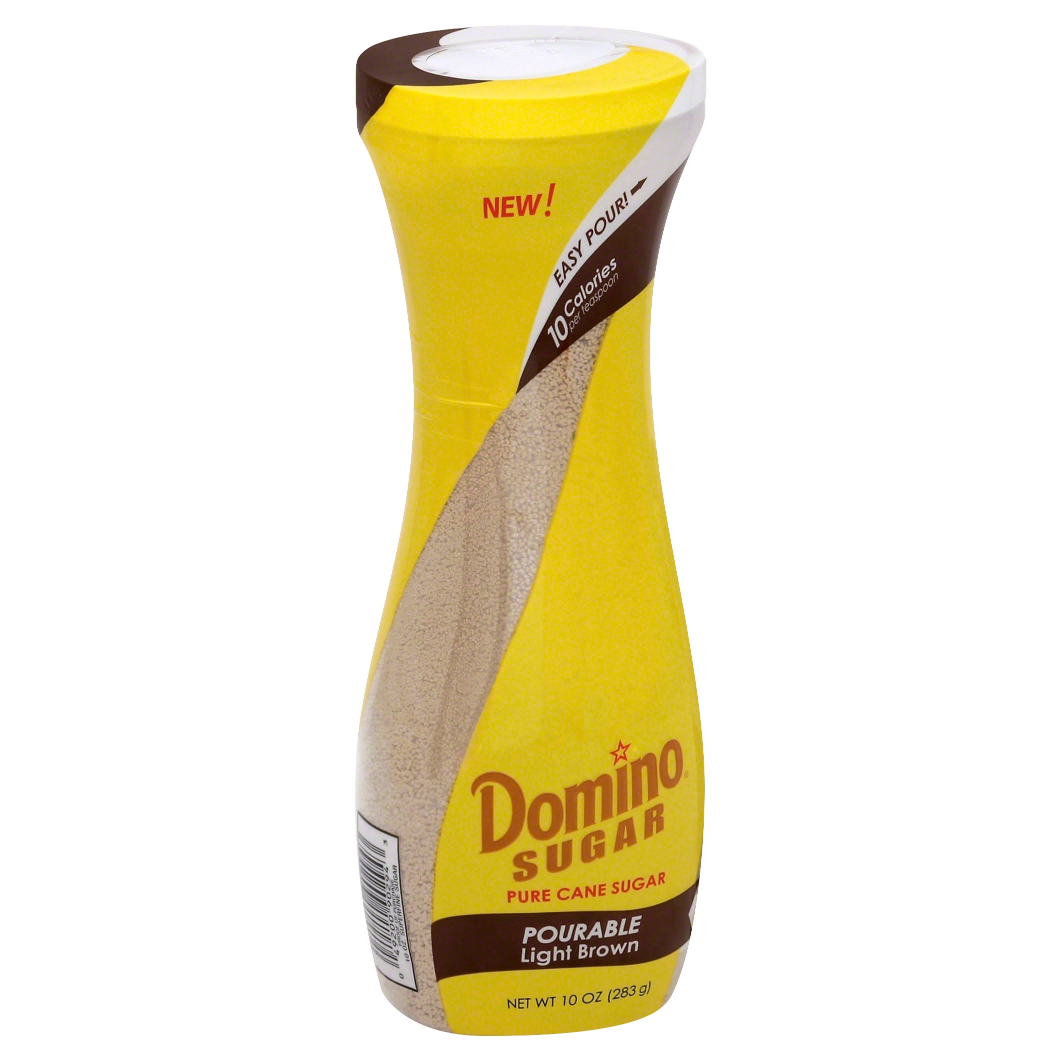 Domino Pourable Pure Cane Sugar - Light Brown, 283g