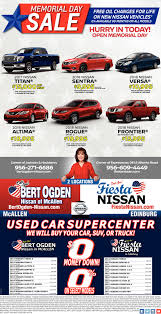 Memorial Day Sale, Bert Ogden Nissan, Mcallen, TX New Chevy Dealership Mcallen Tx Clark Chevrolet Craigslist Corpus Christi Used Cars And Trucks Many Models Under Mcallen Tx Carstrucks Craigslistorg Best Truck Resource For Sale In Brownsville Toyota Page 1 Border Sales Home Facebook By Owner Craiglist Fresh Semi Sale Texas 1gccs19x838141174 2003 Gold Chevrolet S Truck S1 On And Car 2017