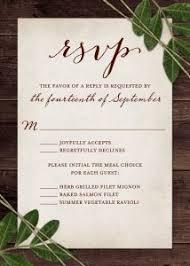 Rustic Wedding Response Card