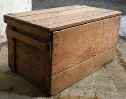 Old Wooden Shipping Crate Enter