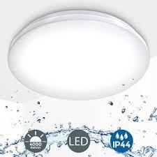 deckenle led 18w bad len ip44 badezimmer leuchte deckenleuchte küche flur