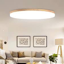 lozse led deckenleuchte weiß 36w holz deckenleuchten für küchen wohnzimmer hotel badezimmer korridor größe 48cm