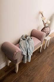 home affaire polsterbank lara beingestell aus massivem tannenholz im shabby look mit einem pflegeleichten gepunkteten bezugsstoff breite 104 cm