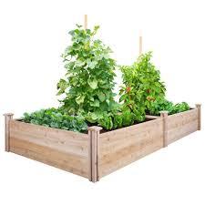 greenes fence 4 ft x 8 ft x 14 in cedar raised garden bed