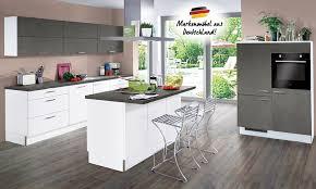 inselküche s23 base b12 inkl e geräte 270 120 180 cm express küchen weiss hg stahl dunkel