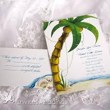 Beach Themed Green Tree Wedding Invitation IWI054