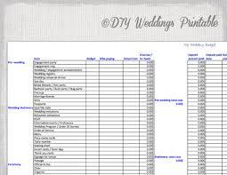 Wedding Budget Spreadsheet Printable Template