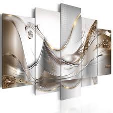 vlies leinwand bilder abstrakt diamenten moderne silber