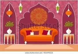 die einrichtung im orientalischen stil wohnzimmer im
