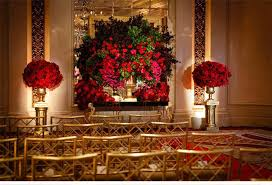 Lovely Red And Gold Table Centerpieces Wedding Decorations Siudynet