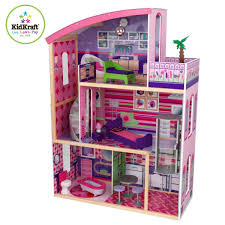 Amazoncom Hoomeda DIY Wood Dollhouse Miniature With LED Furniture