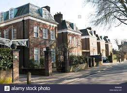 100 Houses In Hampstead Row Of Town Houses London UK Stock Photo