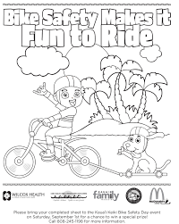 Bike Safety Coloring Pages At Helmet Page