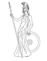 Coloring Pages Of Goddesses For Free