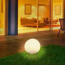 solarkugel 40 cm weißes warm weißes led licht und farbwechsel fixierbar