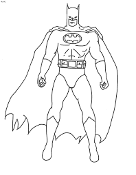 Batman Stuff For A Boy Out Of Paper Coloring Page