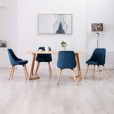 esszimmerstühle 4 stk blau samt
