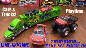 100 Go Cars And Trucks Toy For Kids Semi Truck Car Hauler Set Monster Truck Wheelie