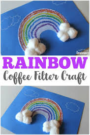 Easy Coffee Filter Rainbow Craft