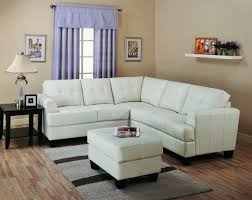 Kathy Ireland Living Room Furniture Modern House Sectional Sofa Decoration Using L Shape White Leather Including