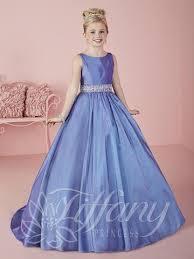 tiffany princess 13490 marine blue beaded satin pageant dress
