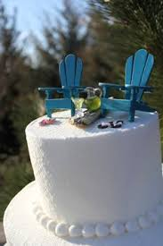 Custom Painted Margaritaville Adirondack Chairs by Beach Theme Wedding Cake Topper Classic By Landscapesnminiature
