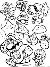 Coloring Pages Mario Game Cartoons Others