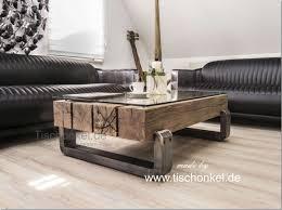 teakholz balken couchtisch möbel fürs wohnzimmer möbel