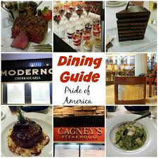 Ncl Deck Plans Pride Of America by Dining Guide For The Pride Of America Dinners Dishes And Desserts