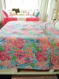 Lilly Pulitzer s bedding by Dan River Palm Beach Toile duvet