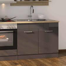 270cm breite küchenzeile in hochglanz grau bozenia inkl elektrogeräte 12 teilig
