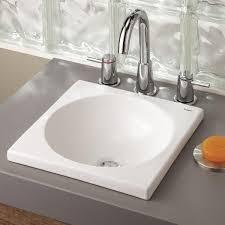 Drop In Bathroom Sink With Granite Countertop by Overmount Bathroom Sink Interior Design