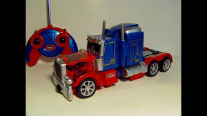 TRANSFORMING RC OPTIMUS PRIME REMOTE CONTROL TOY ROBOT TRUCK REVIEW ...