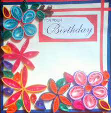 Paper Quilled Birthday Greeting Card