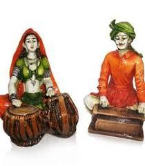Rajasthnai Couples Playing Tabla Harmonium
